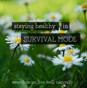 We've all been (or will be) in survival mode with our families. Here's how to stay healthy during the crazy seasons!