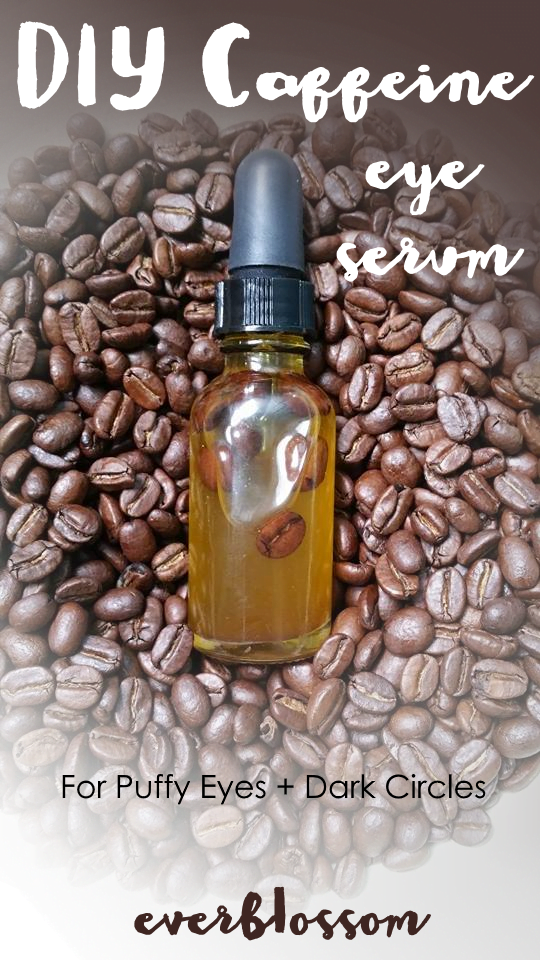 DIY caffeine eye serum made from coffee