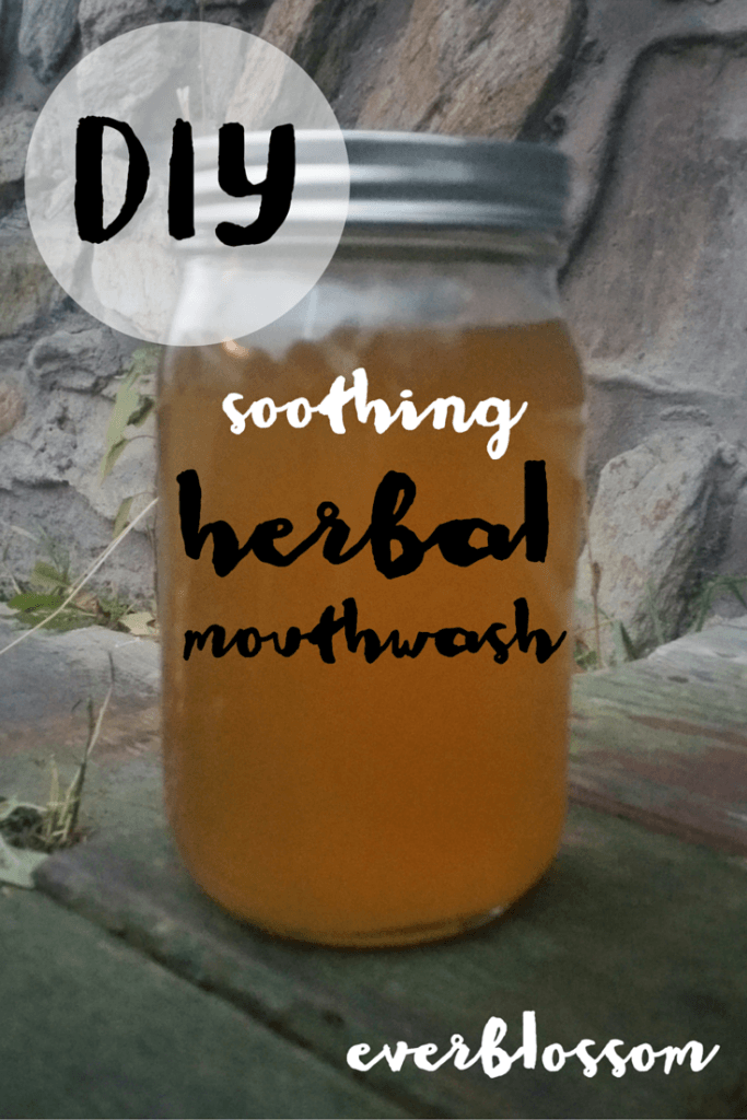 Funky breath? Sore gums? Make your own herbal mouthwash with NO irritating alcohol. Here are 5 awesome herbs you can include.