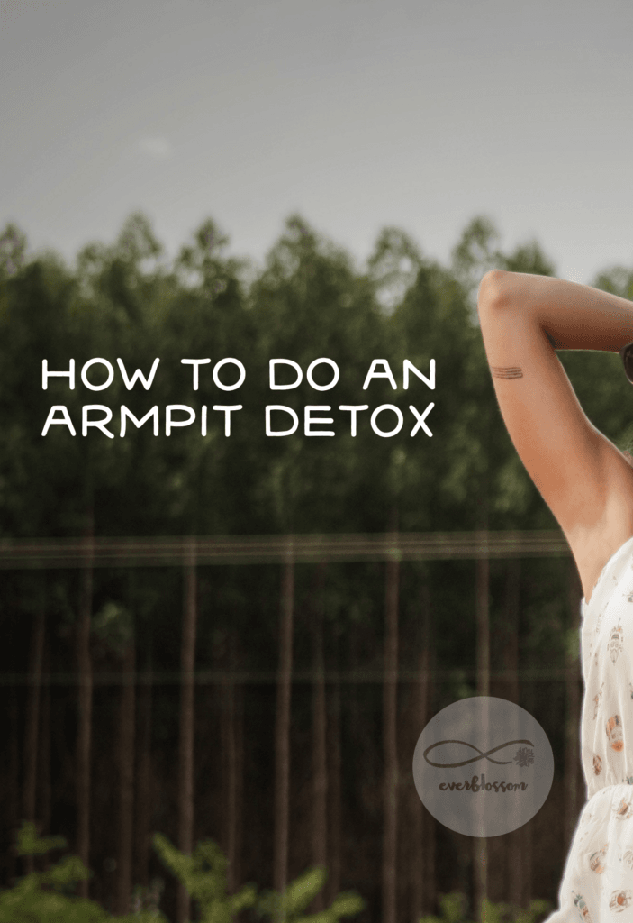 "Woman with caption: ""how to do an armpit detox"""